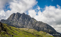 Tryfan mountain East Face Snowdonia