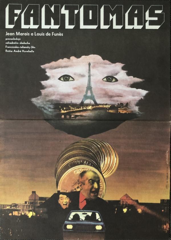 Originálny filmový plagát Fantomas 3 1980