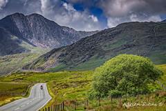 Biker in Snowdonia Wales
