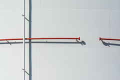 White and red pipes