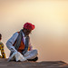 Moment of reflection on the Thar Desert, Rajasthan, India