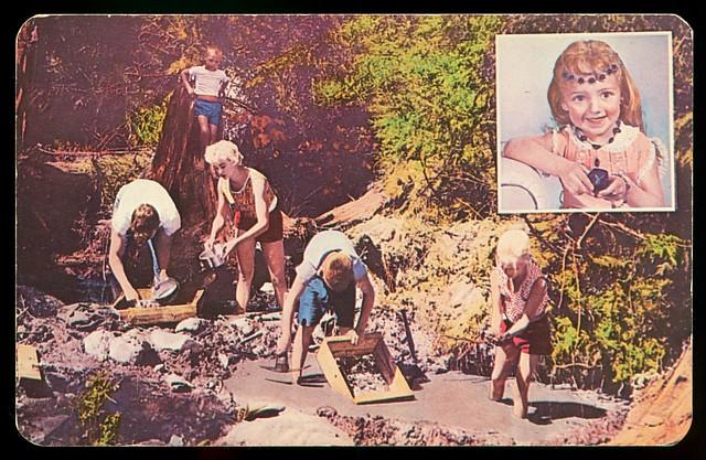 Digging for Emerald Creek Star Garnets, circa 1960s - Fernwood, Idaho