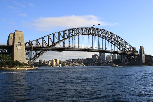 Cliche shot of the Sydney Harbour Bridge
