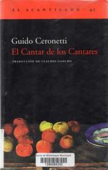 Guido Ceronetti, El cantar de los cantares