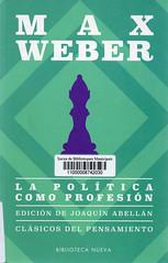 Max Weber, La política como profesión