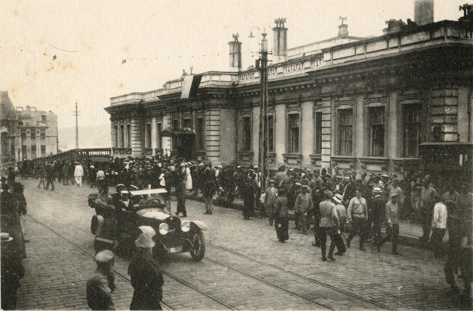 1918. Штаб чешской армии на улице Светланской
