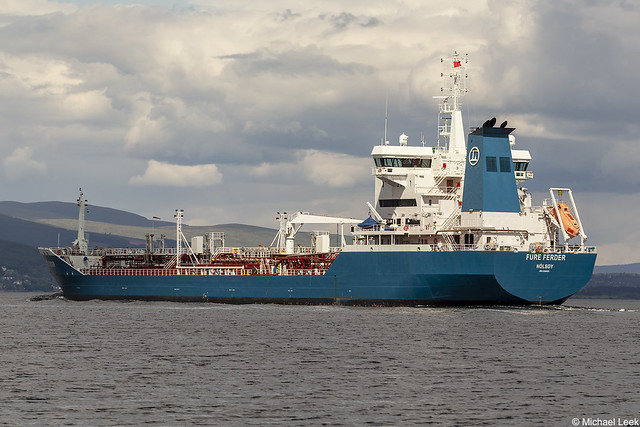 The Faroese registered oil and chemical tanker Fure Ferder, IMO 9268423; Firth of Clyde, Scotland