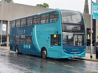 Arriva North East Sapphire E400 7536 seen here unusually operating the 10:40 X26 to Colburn