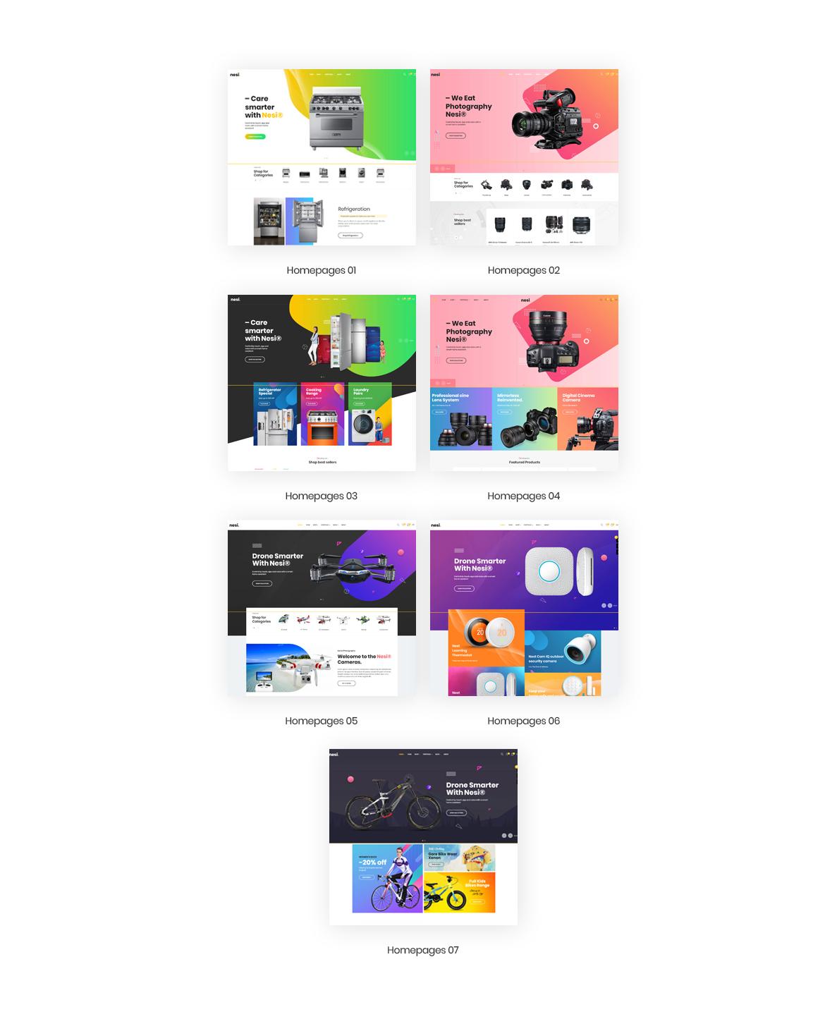 2.multi homepage-Bos Nesi multipurpose prestashop theme