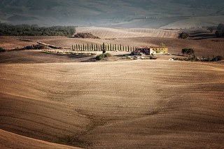 On the way to Pienza - Tuscany.