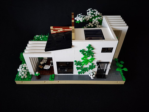 Cherry Loft House MOC. White side.