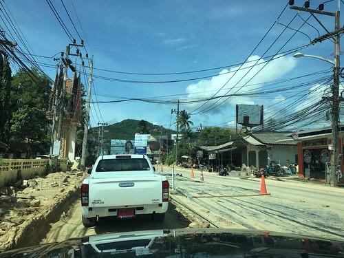 サムイ島 6月25日 ボープット道路工事状況