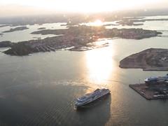 Flight over Helsinki   Tallink