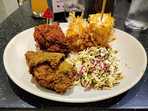 Two Piece Bad Bird with Fresh Corn and Coleslaw