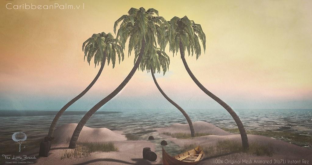 Little Branch Caribbean Palm v1