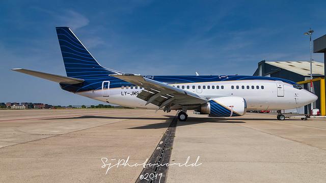 KlasJet Boeing B737-5 LY-JMS