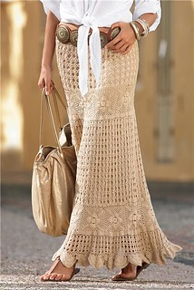 Long crochet skirt for this season