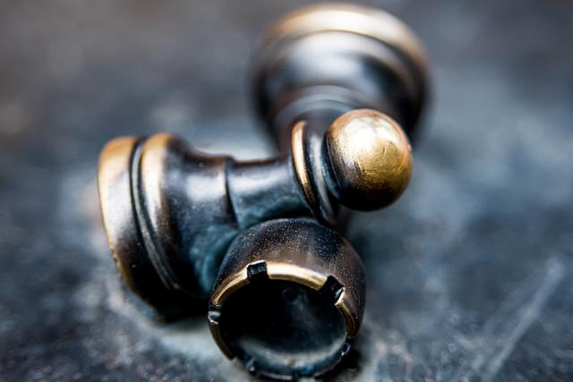 Metal Chess Castle & Pawn