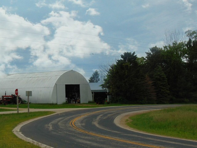 Quonset on a curve.