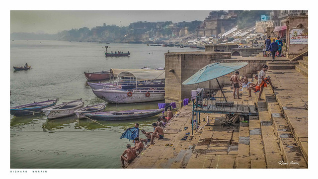 Time for a dip, by the Ganges, Varanasi.