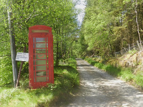 Red Telephone Box, Achnashellach, Highlands of Scotland, May 2019