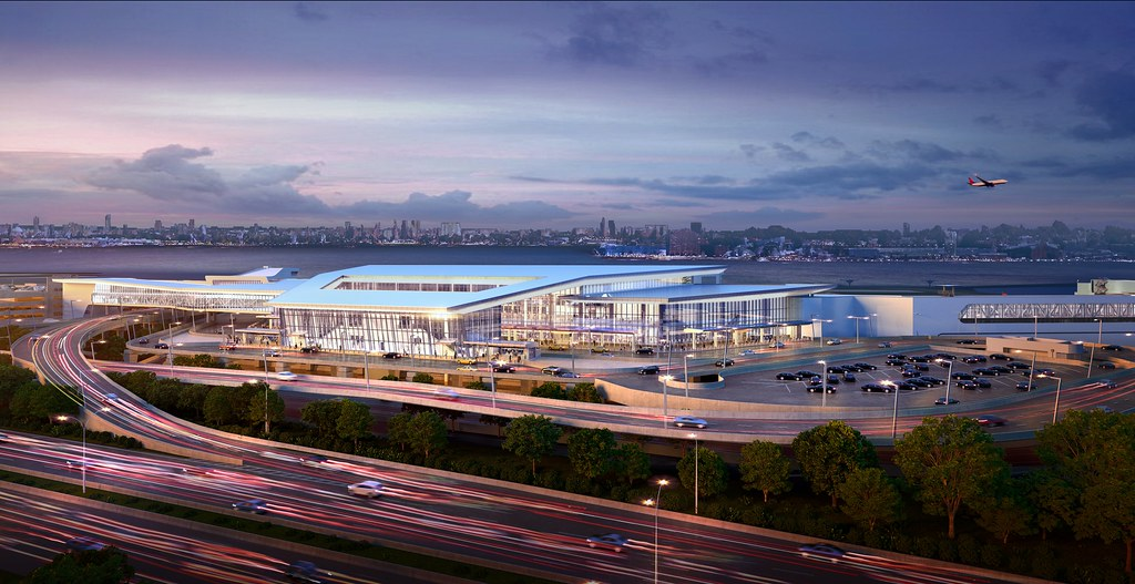 Rendering of Delta's new LGA concourse