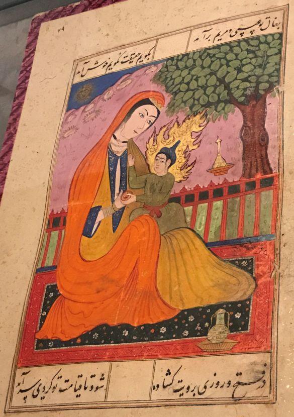 IMG_1065MiddeleeuwseTuinenInHetRMOMariaMetKindFalnamehWaarzeggersboekIndia1550-1600