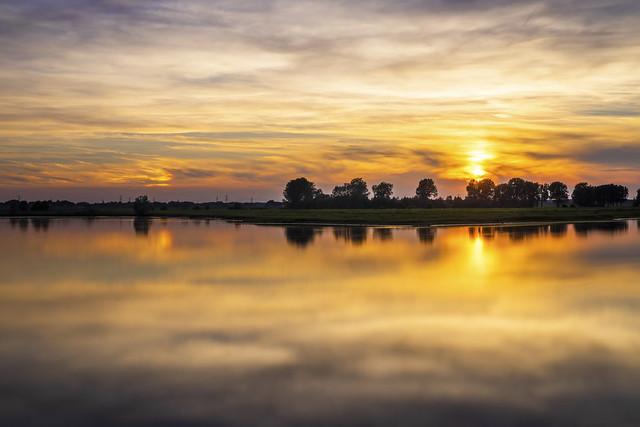 Sunset  in Asselt