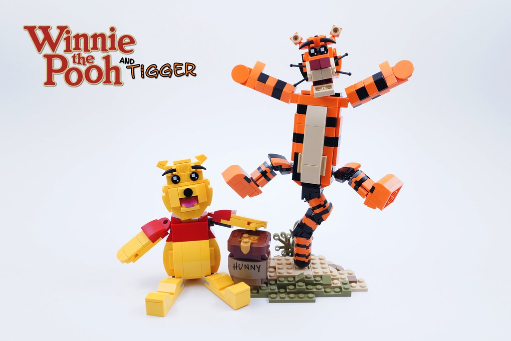 LEGO Ideas Project: Winnie and Tigger (custom built Lego model)