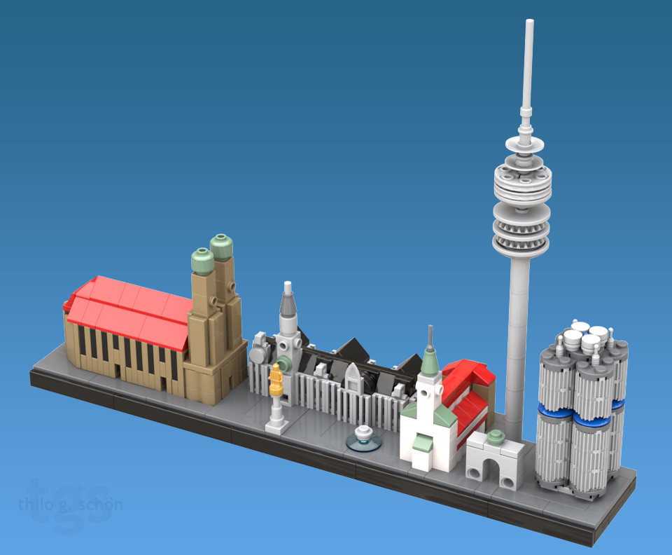 City of Munich (custom built Lego model)