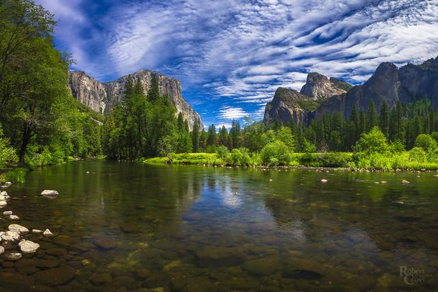 Yosemite Valley River & Sky