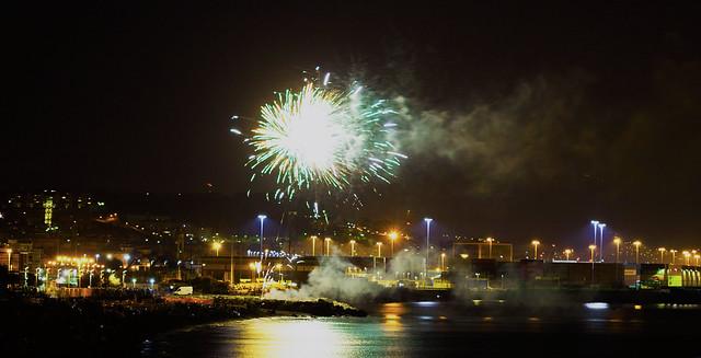 Fuochi d'artificio a Voltri.