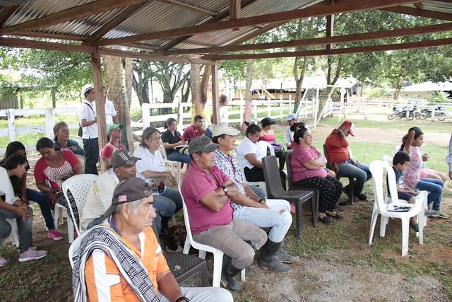 """Visita a la Cooperativa, inspección del municipio de Mapiripan """"Proyecto el agua es vida para la cooperativa"""""""