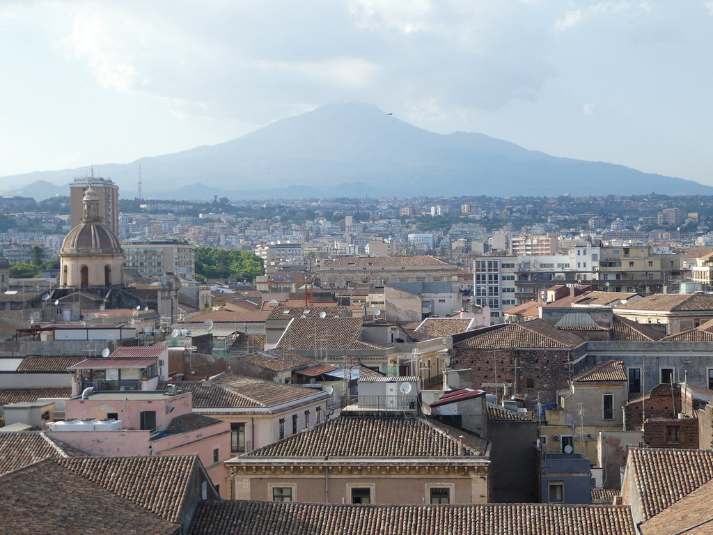 Views from the Dome of the Badia di Sant'Agata, Catania, Sicily