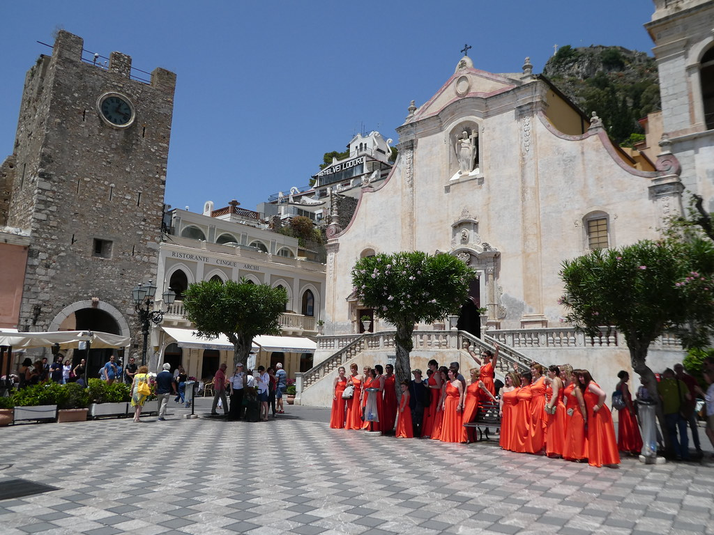 Main square, Taormina, Sicily