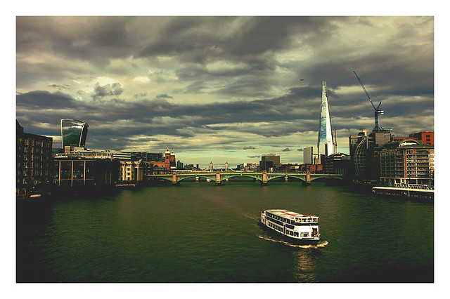 Cloud Formations Over London's Skyline