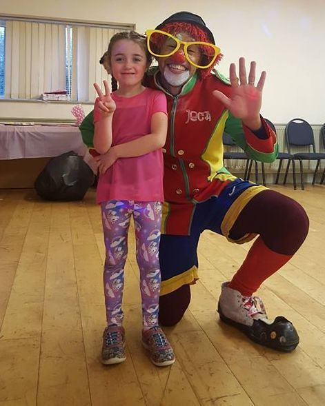 Jeca the clown and Kayleigh MC Cann with her amazing personality,tremendous charisma and stage presence.