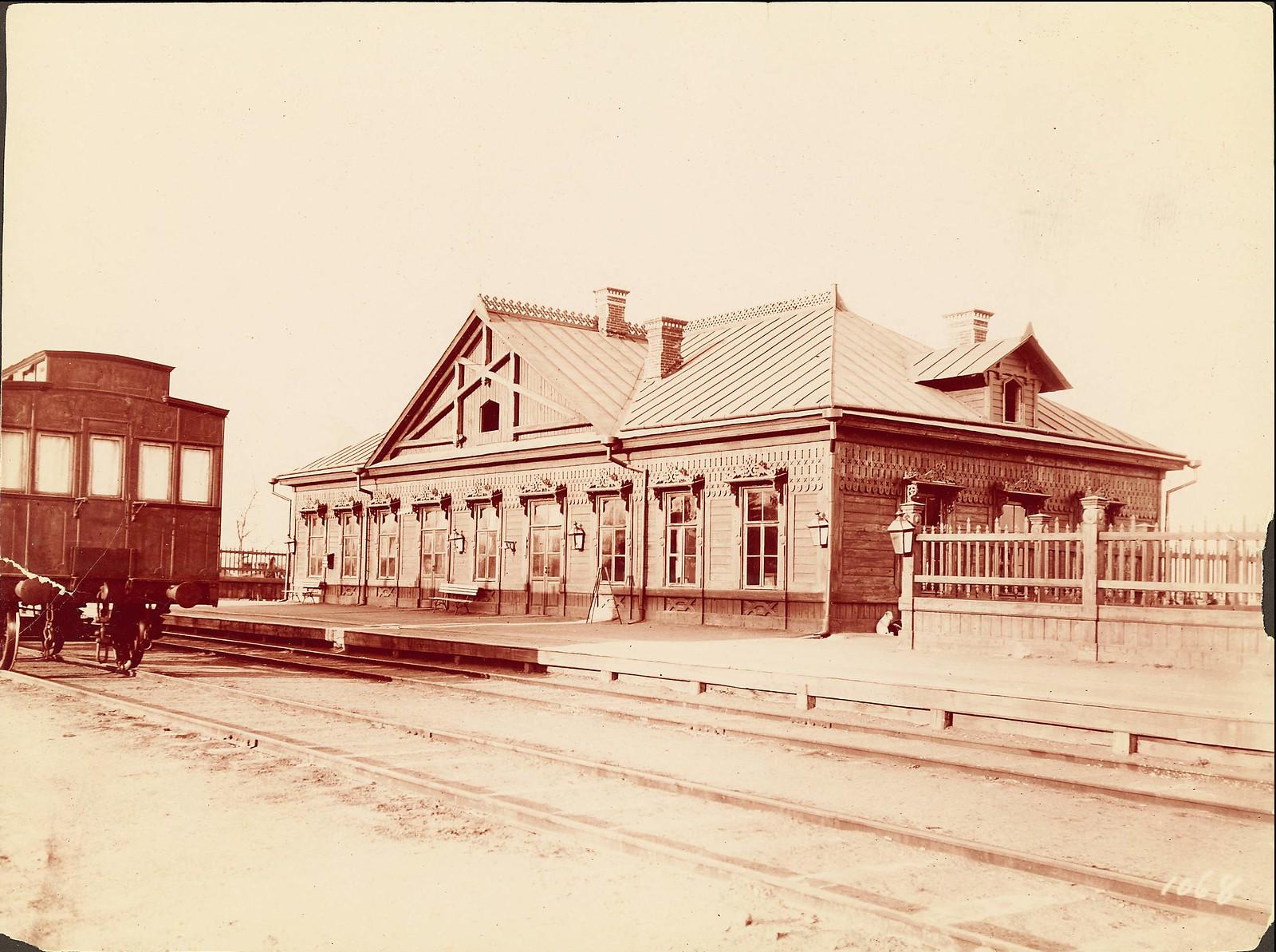Железнодорожный вокзал на линии между Владивостоком и Хабаровском