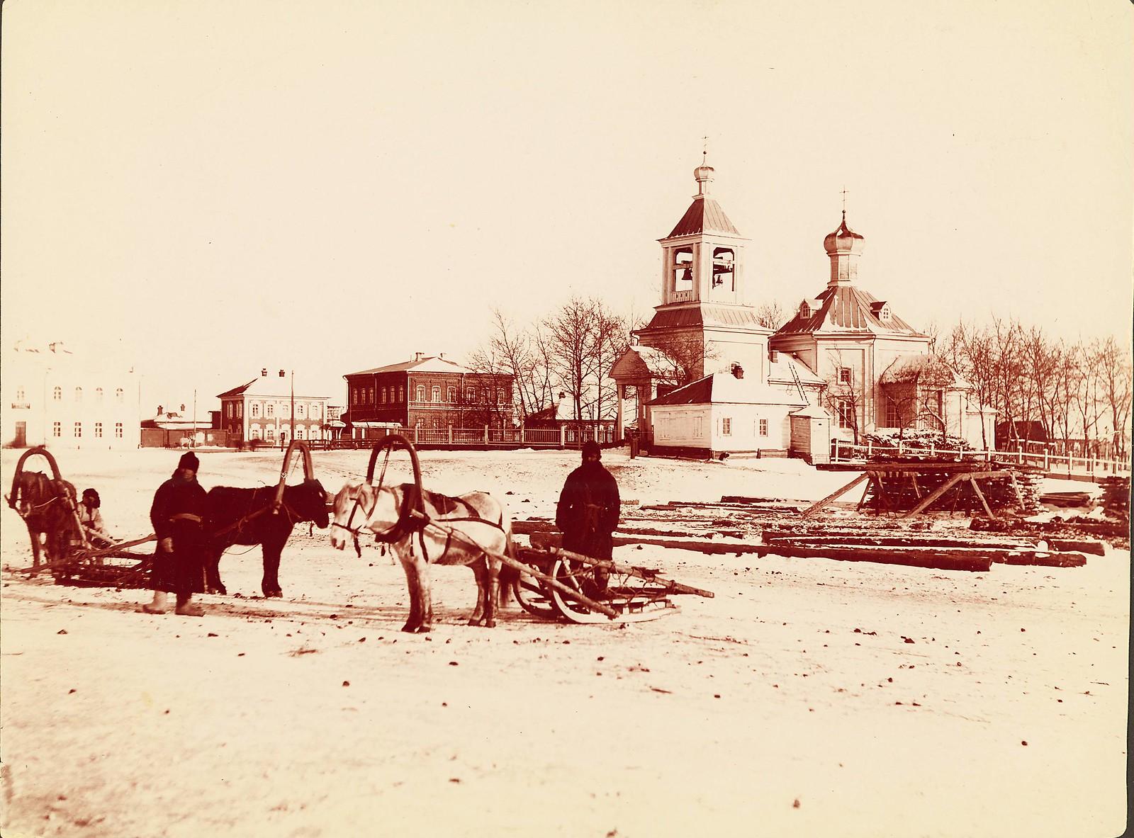 Благовещенск. Благовещенская церковь на набережной Амура