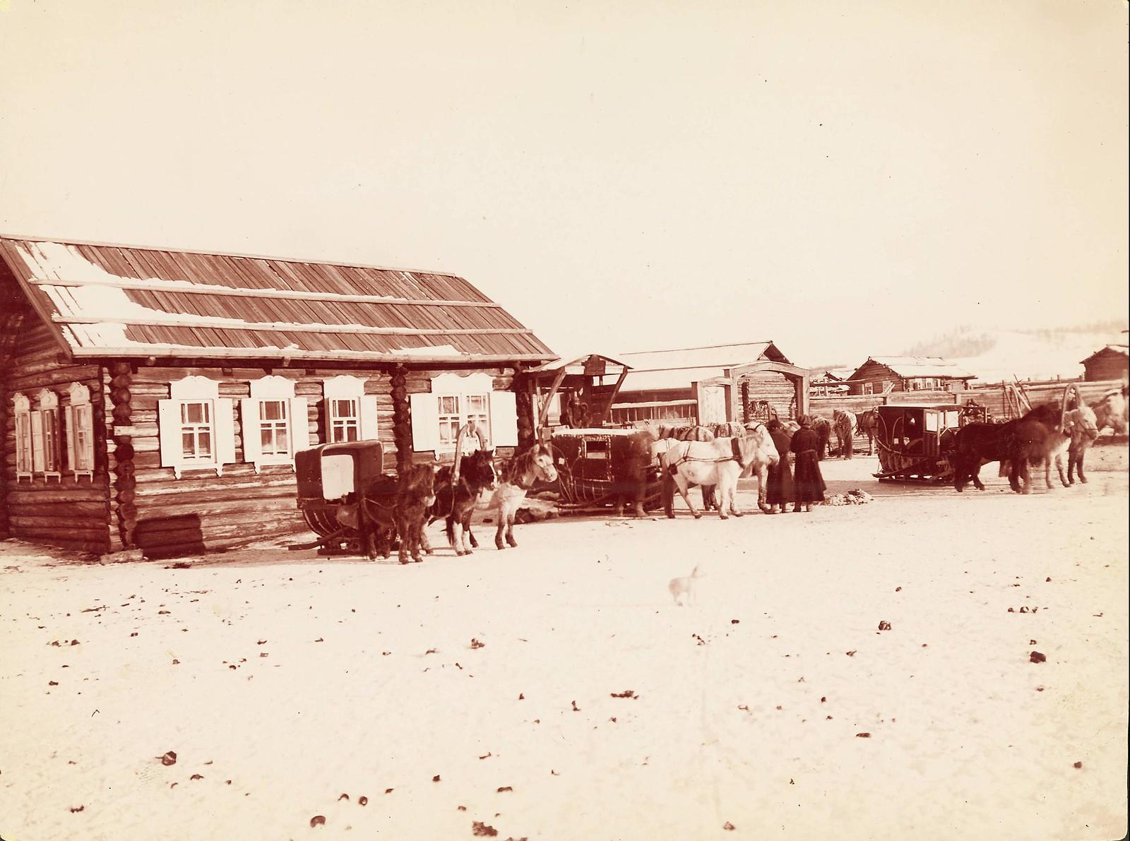 Виды почтовой станции на Амурской границе