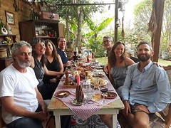 Wine and cheese with pals like these! El Artesano, San Juan la Laguna, Guatemala. . . @el_artesano_wine_and_chese #travel #digitalnomad