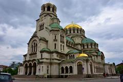 Main façade, Alexandra Nevsky Cathedral, Sofia, Bulgaria