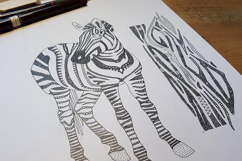 zebra and zebra skin WIP