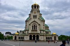 Front façade, Alexandra Nevsky Cathedral, Sofia, Bulgaria