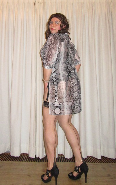see-through snake tunique (or is it a dress?)
