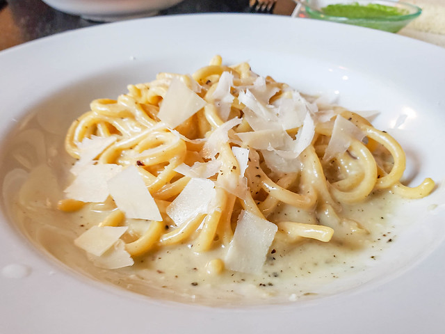 Cacio e Pepe at Basil Seasonal Dining