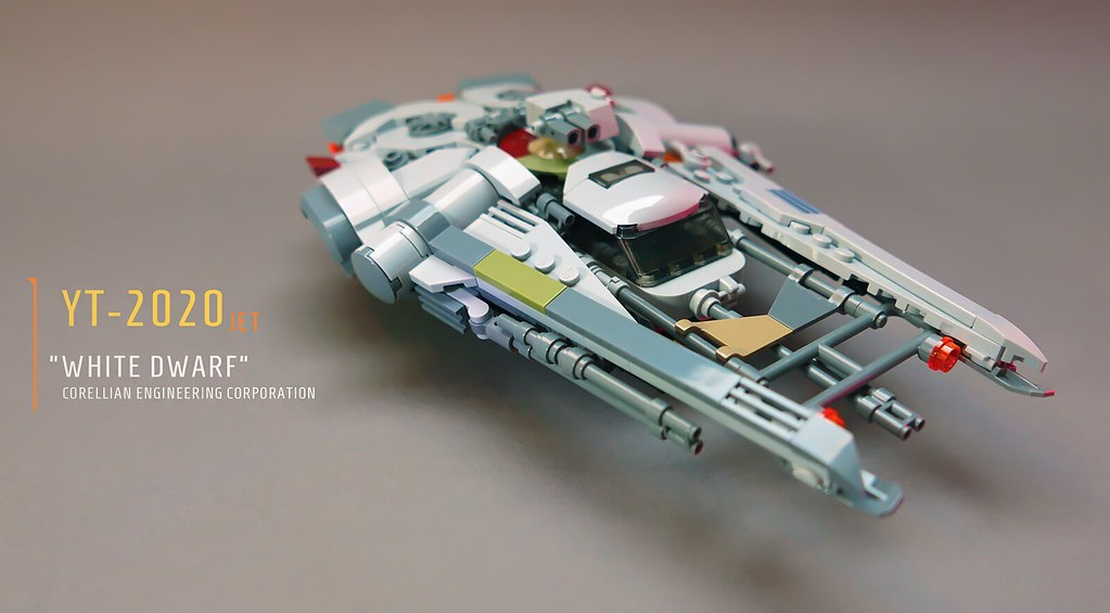 YT-2020 jet – White Dwarf v2 (custom built Lego model)