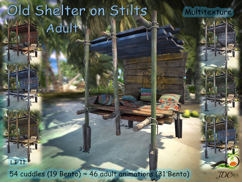 ~TDC~ Old Shelter on Stilts – Multitexture – Adult