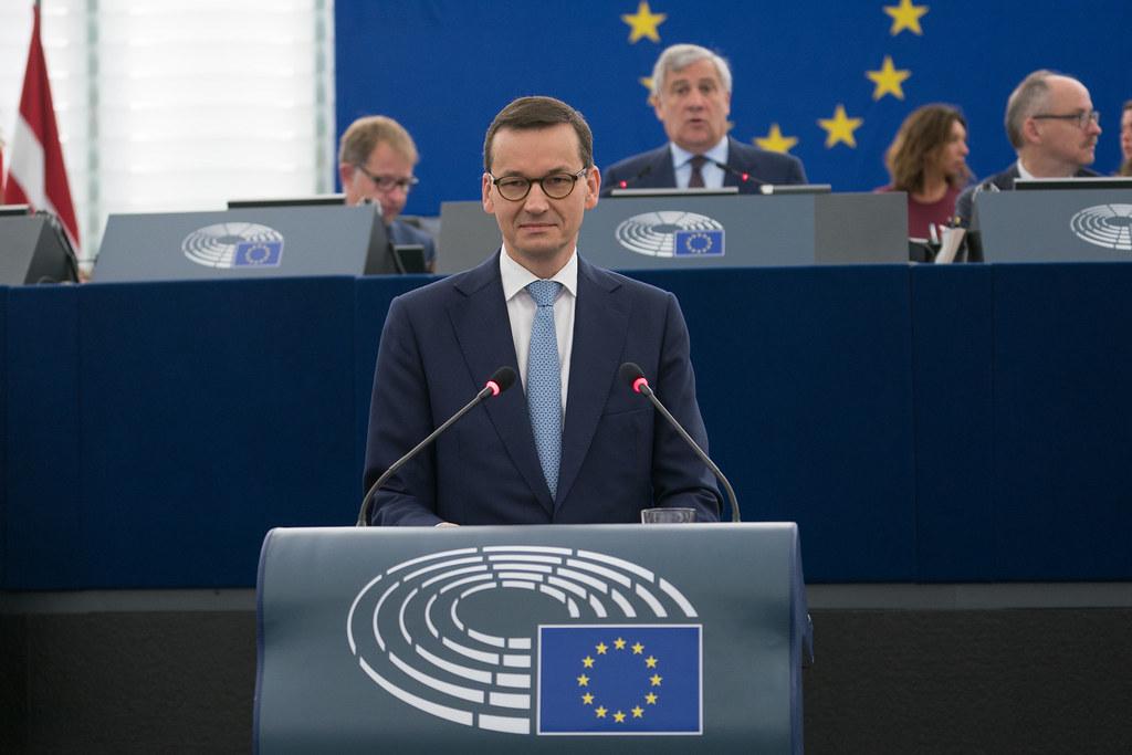 歐洲理事會那天正好是波蘭總理莫拉維茨奇(Mateusz Morawiecki)的生日。圖片來源:European Parliament(CC BY-NC-ND 2.0)