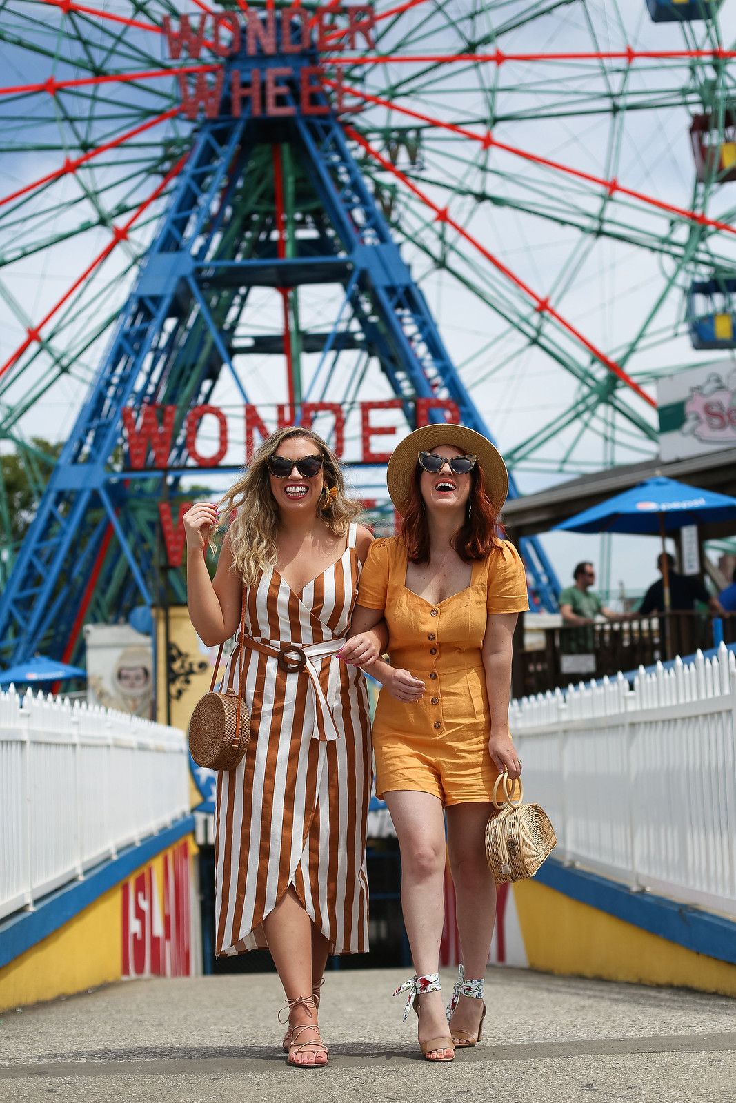 Vintage Inspired Summer Outfits | Coney Island Brooklyn New York | Coney Island Photoshoot | Wonder Wheel | Amusement Park Photo Ideas | Retro Summer Clothes